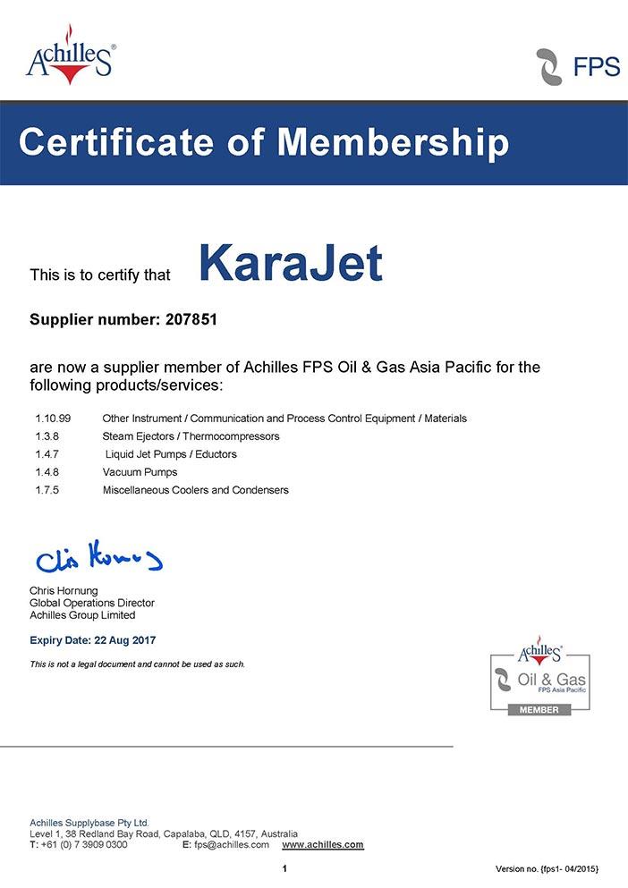 207851 fps certificate
