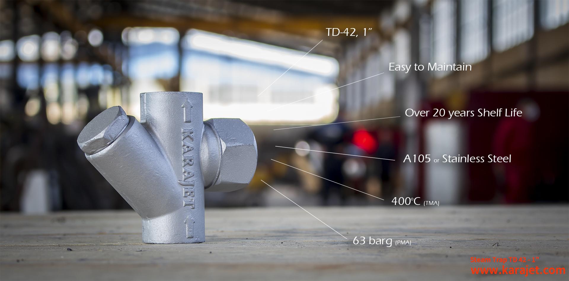 انواع تله بخار- تله بخار ترمودینامیکی-شرکت کارا صنعت تدبیر پایا