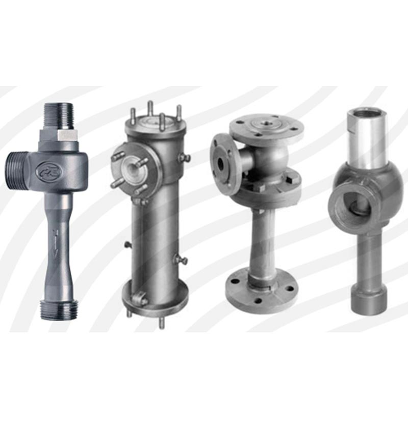 Liquid jet vacuum pumps-اجکتور تولید خلاء با مایع محرک